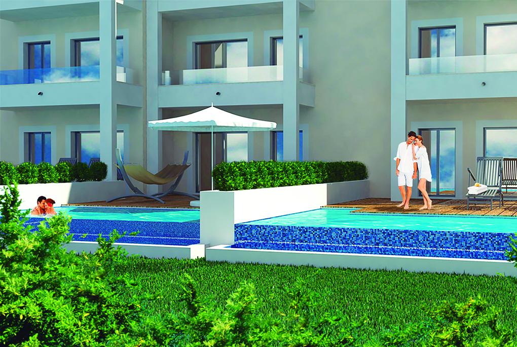 Habitaciones con piscina