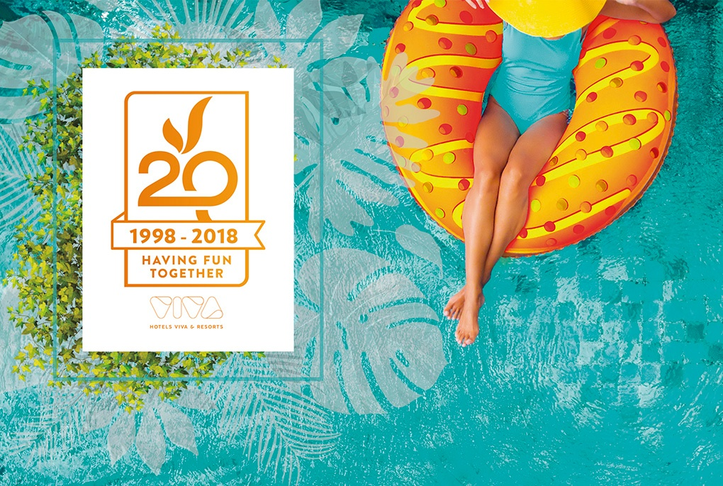 Hotels Viva wants to celebrate their 20th anniversary with you