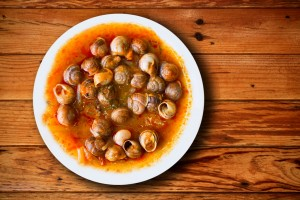 dish of snails prepared at spanish style