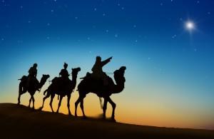 Three Kings Looking At The Star