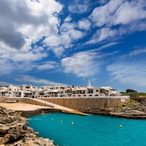 Binibequer Vell in Menorca Binibeca white village Sant Lluis