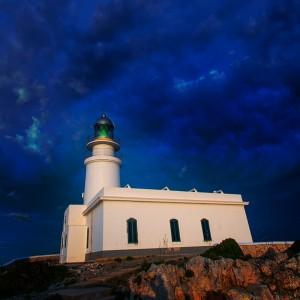 Menorca sunset at Faro de Caballeria Lighthouse