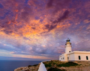 Menorca sunset at Faro de Caballeria Lighthouse
