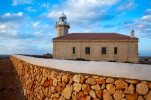 Menorca Punta Nati Faro lighthouse Balearic Islands