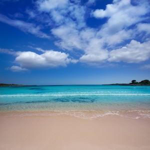 Menorca Son Saura beach in Ciutadella turquoise Balearic