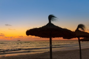 Majorca Sunset in Es Trenc beach in Campos