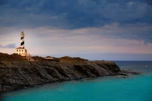 Cap de Favaritx sunset lighthouse cape in Mahon