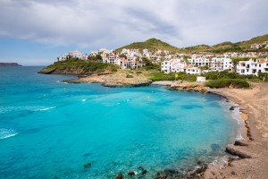 Fornells in Menorca Cala Tirant beach at Balearic Islands of Spain