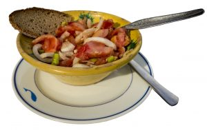 Celebrating St. John's Festival with a typical Majorcan Trampó salad