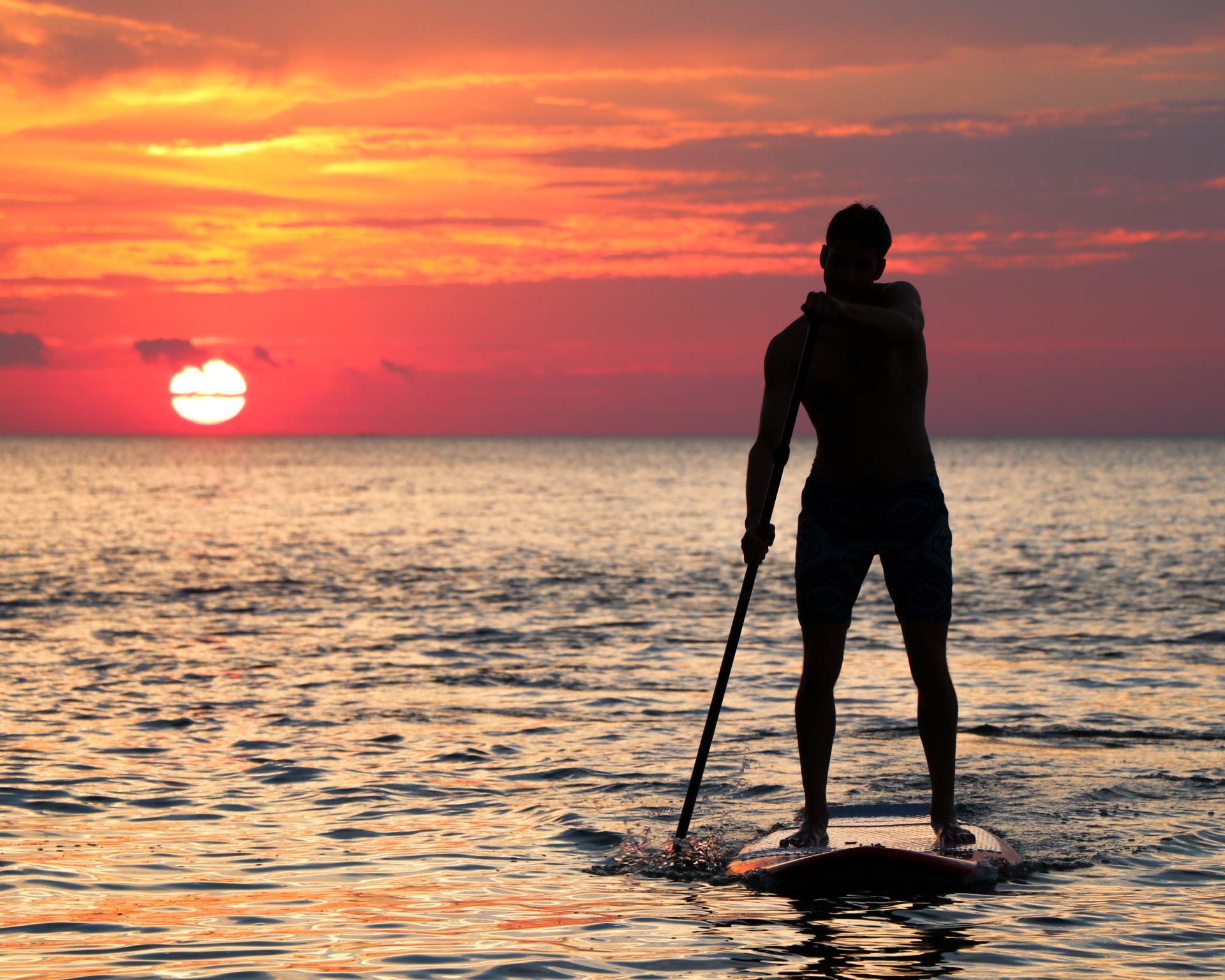 paddle surf atardecer mallorca