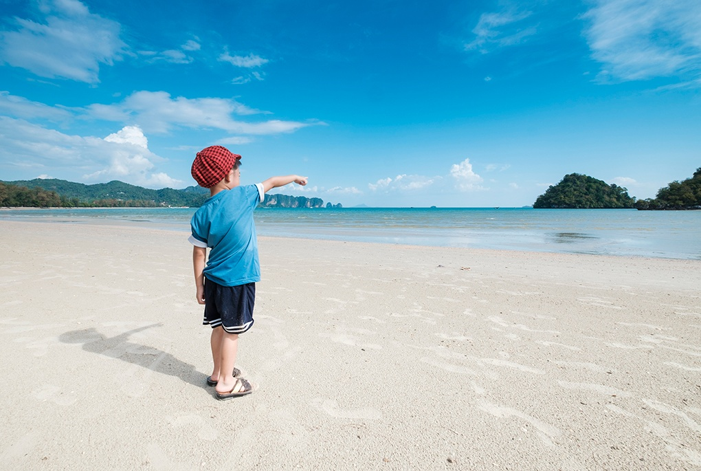 Holidays with kids on paradise-like beaches