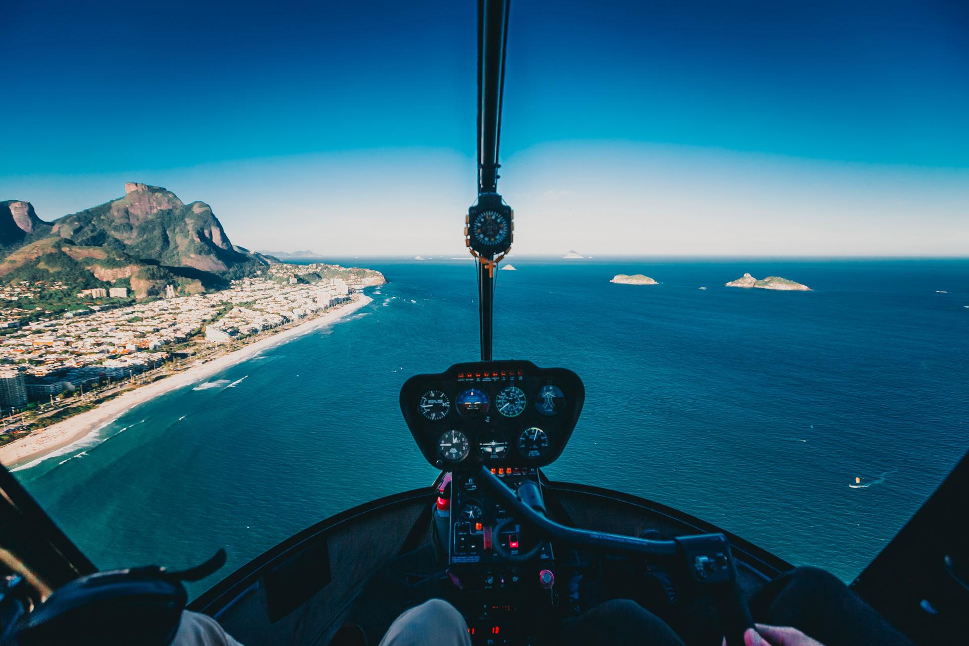 A helicopter ride around Mallorca